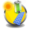 Solar Battery Charger (Prank) icon