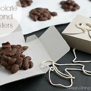Homemade Chocolate Almond Clusters.