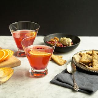 Amaretto And Cranberry Shrub Cocktail