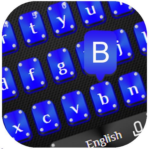 Elegant Blue Black Keyboard