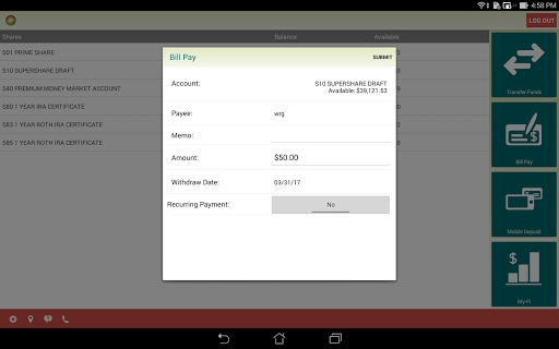 HawaiiUSA FCU Mobile Banking  screenshots 5