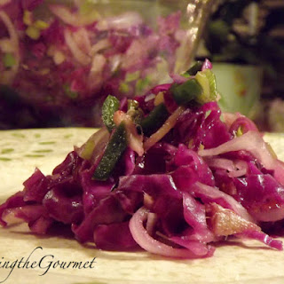 Warm Red Cabbage Salad!!!.
