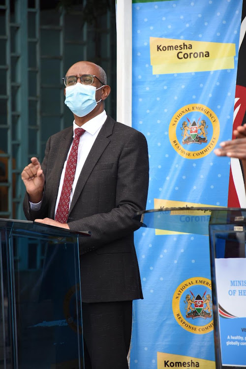 Health CAS Rashid Aman during a press conference on coronavirus pandemic at Afya house on May 11, 2020.