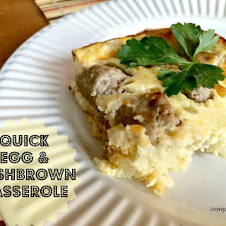 Easy Hash Brown Egg Casserole.