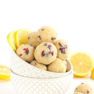 Cranberry Lemon Bites [ Paleo / Vegan ].