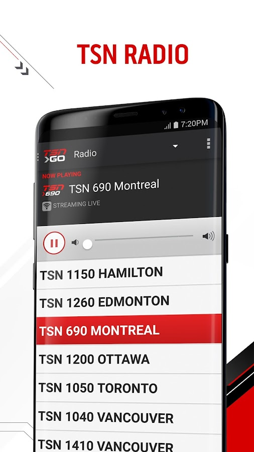 TSN GO- screenshot