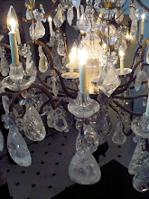 Photo: The huge chunks of raw crystal in the main foyer's chandelier fascinated me.