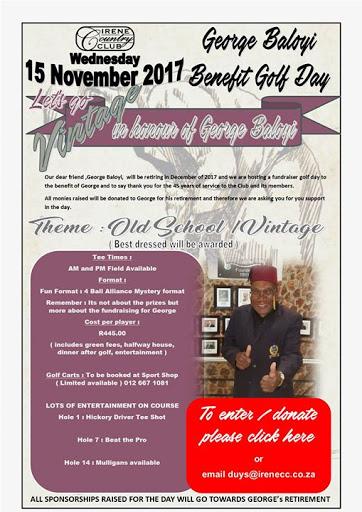 George Baloyi Benefit Golf Day : Irene Country Club