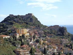 Photo: Saracen Castle with Sanctuario della Madonna della Rocca below