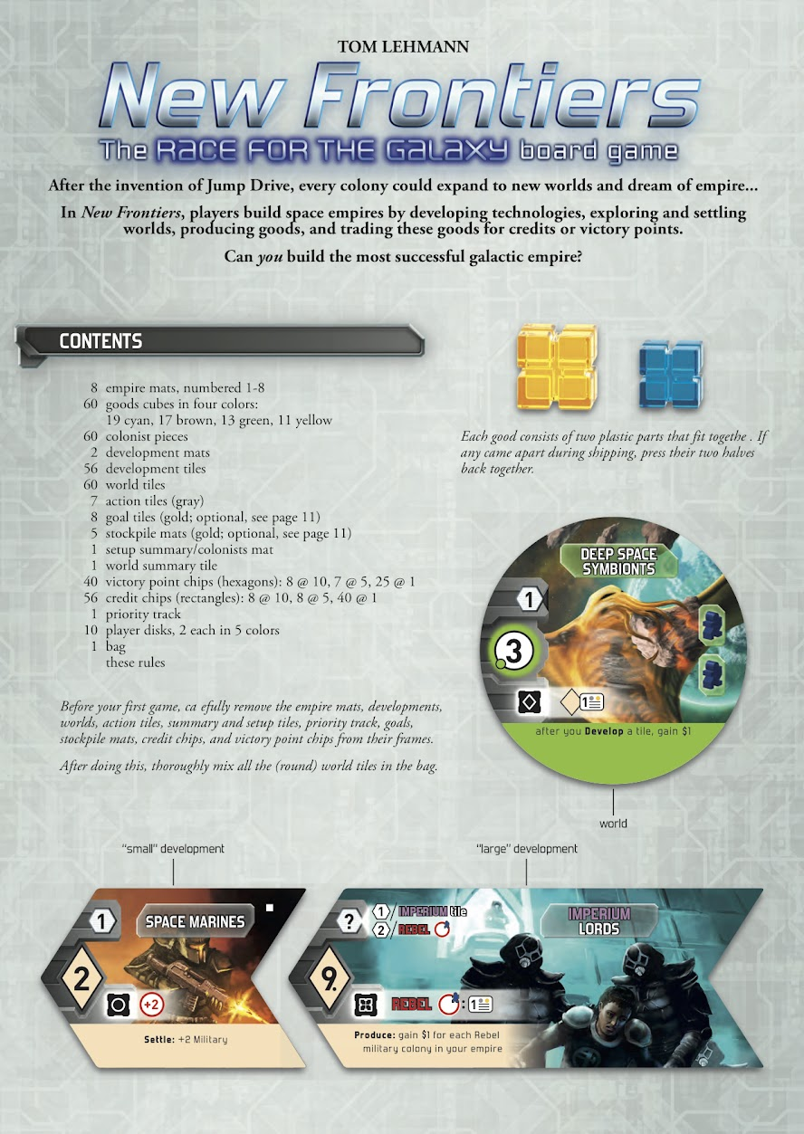 Better Rules Pdf New Frontiers Boardgamegeek