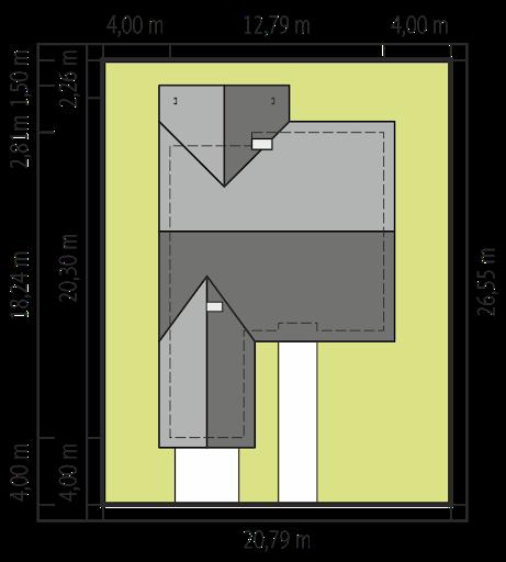 Simon IV G2 - Sytuacja - wariant z garażem jednostanowiskowym