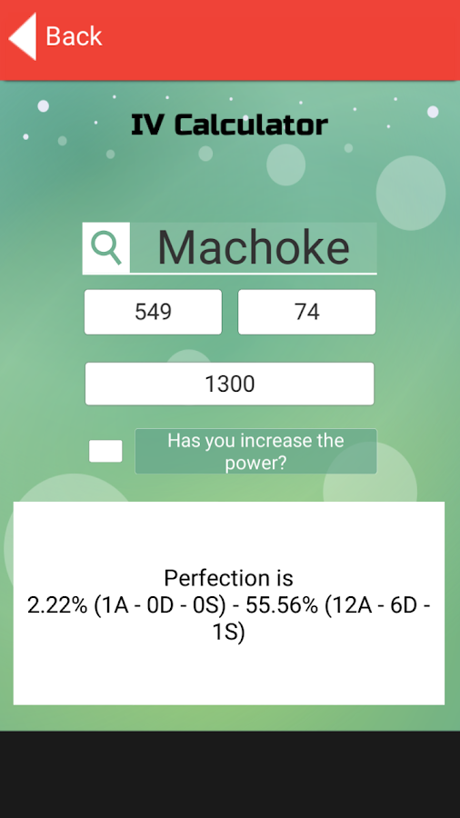 IV Calculator for Pokemon GO- screenshot