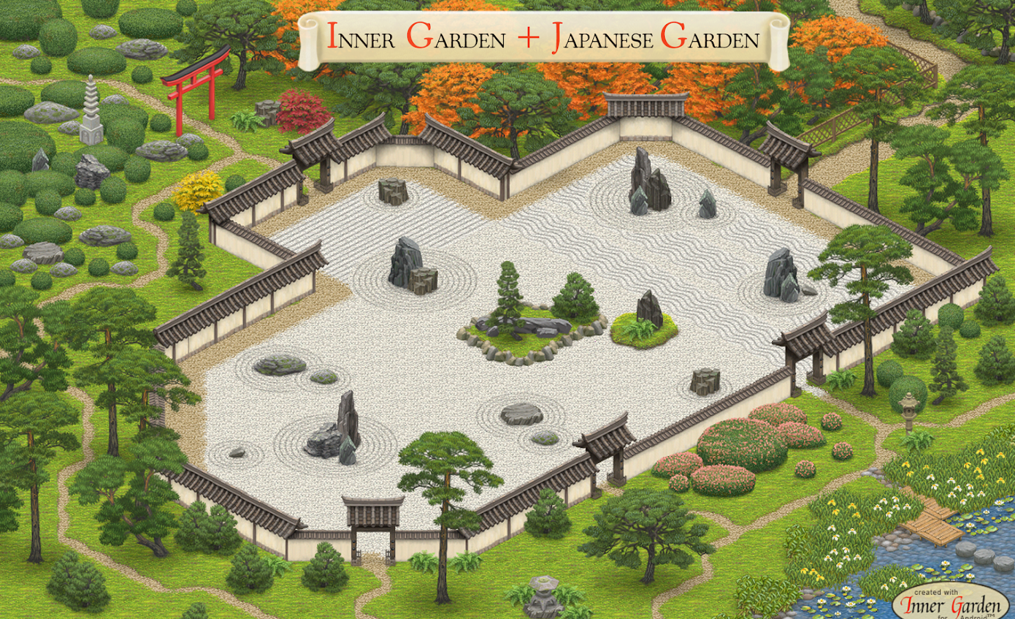 inner garden screenshot - Garden Design Birds Eye View