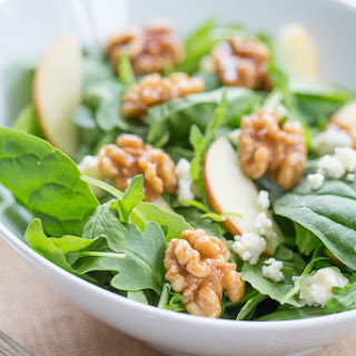 Autumn Salad with Candied Walnuts, Gorgonzola & Apples
