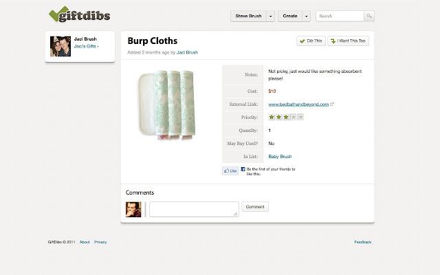 GiftDibs.com Chrome Button