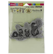 Stampendous House Mouse Cling Stamp - Carrying Candy Canes