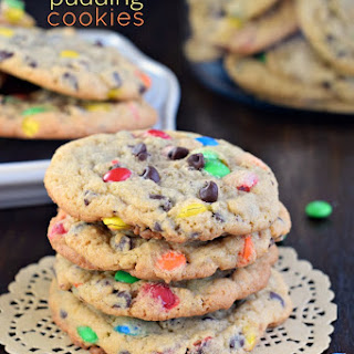 Soft and Chewy M&M Pudding Cookies