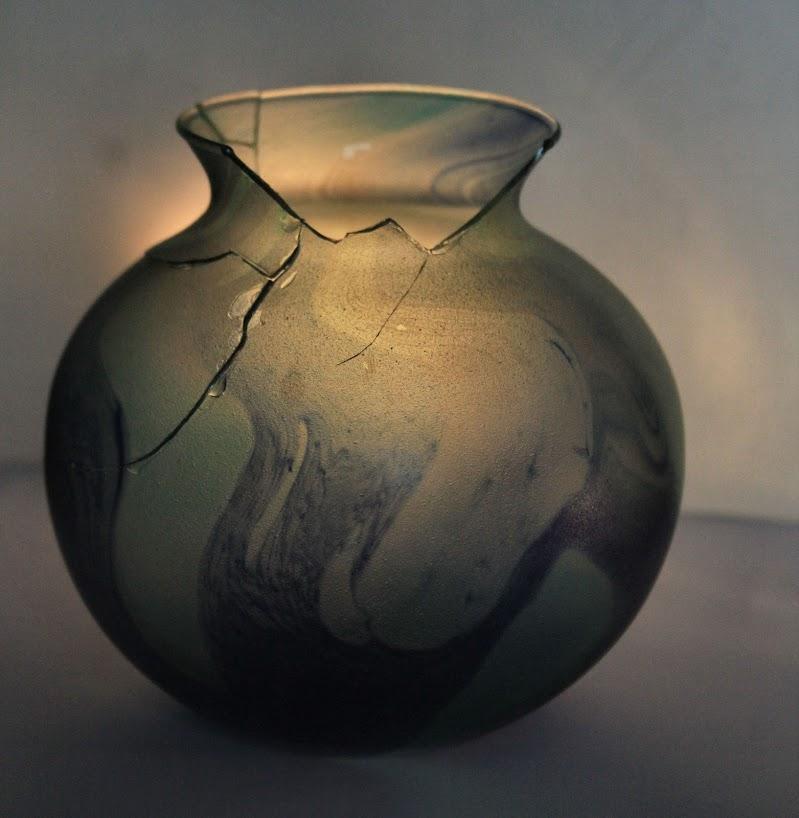 sottile vaso in vetro di smpaint