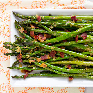 Roasted Asparagus with Bacon Vinaigrette Recipe
