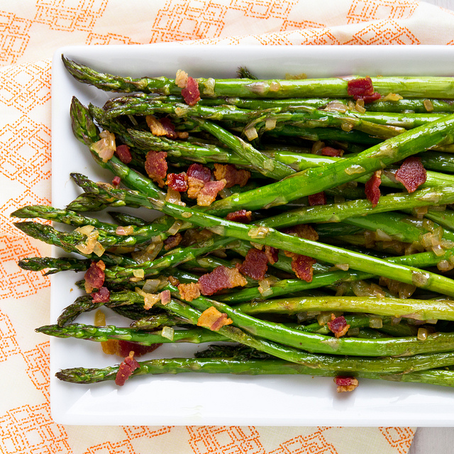 bacon sauteed asparagus with bacon and dijon recipes dishmaps sauteed ...