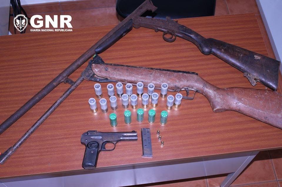Detido por posse ilegal de armas de fogo - Lamego