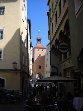 Photo: Regensburg was a trade connection to Venice and Italy--so they got hooked on towers....