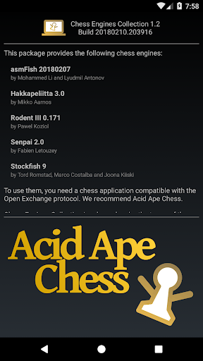 Chess Engines Collection by Acid Ape Studios (Google Play