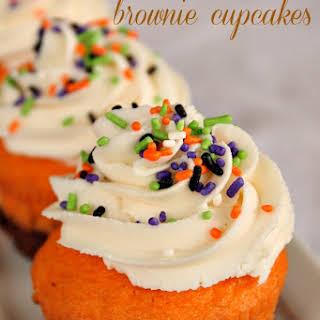Halloween Brownie Cupcakes.