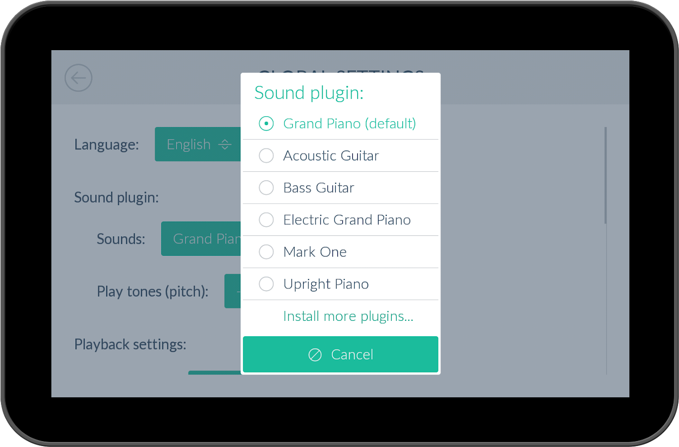 Cello *Plugin*- screenshot