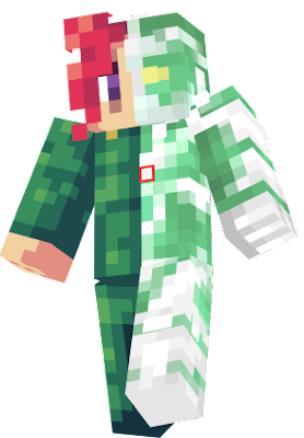I've seen pictures of JoJo characters where they are split in half and on one side is the user, and on the other is the stand, and it makes a fusion of the user and stand. I wanted to this in a Minecraft skin, and here it is.