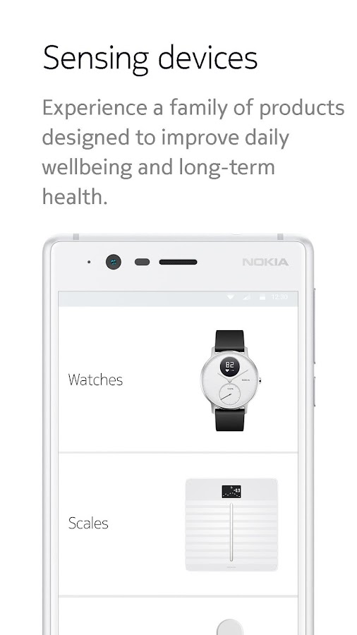Nokia Health Mate- screenshot