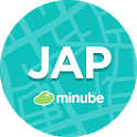 Japan Travel Guide in English with map icon
