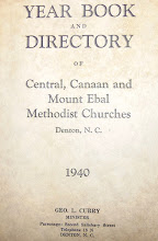 Photo: Year Book & Directory of Central, Canaan and Mount Ebal Methodists Churches, Denton NC 1940 in Time Capsule 1941, Opened at Canaan Homecoming Aug. 7th., 2016 http://CanaanUMC.net