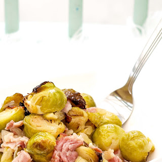 Tender Roasted Sprouts with Juicy Bacon