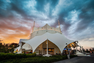 Photo: Cirque du Soliel - sharing first to Google+ ! :)  Here's a photo I just finished working on. This is the special tent for the Cirque du Soliel in Orlando at Downtown Disney. This was the first time we took my son +Ethan Ratcliffto the circus. He loved it!