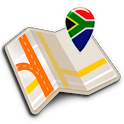 Map of South Africa offline icon