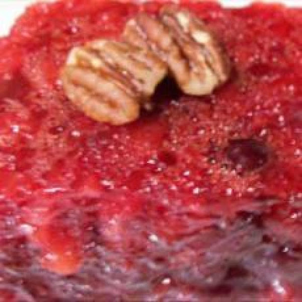 Thanksgiving Cranberry Jello Salad Recipe