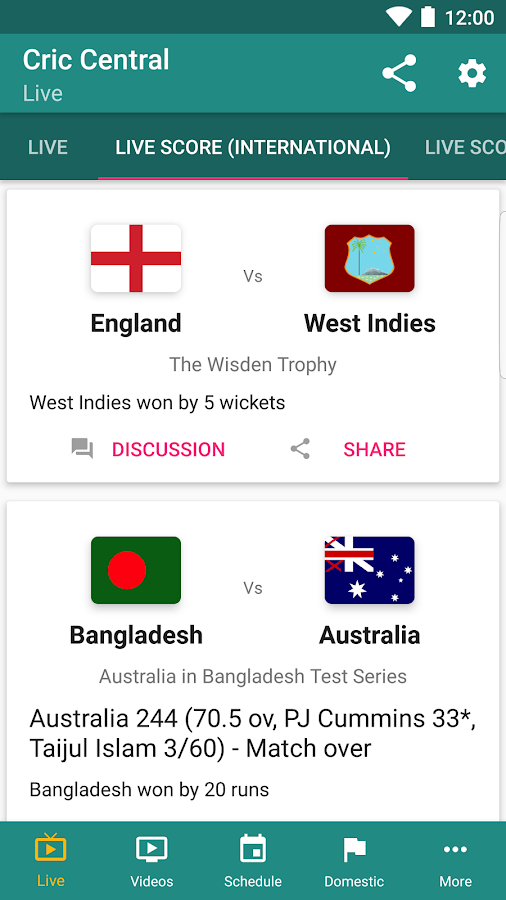 CricCentral: Live Cricket Scores & More 🏏- screenshot