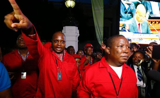 EFF leaders Floyd Shivambu (left) and Julius Malema. Picture: REUTERS