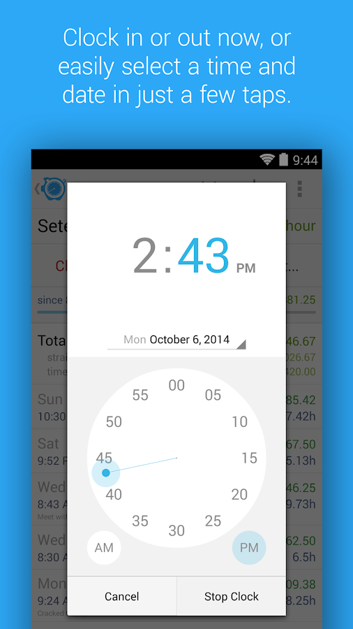 HoursTracker: Time tracking for hourly work- screenshot