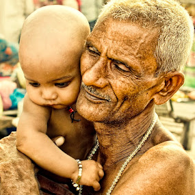 Bond by Arup Acharjee - People Street & Candids ( family, old man, senior citizen, baby )
