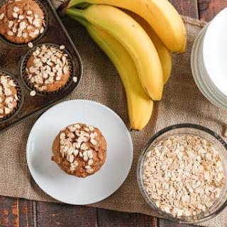Whole Wheat Banana Oatmeal Muffins.