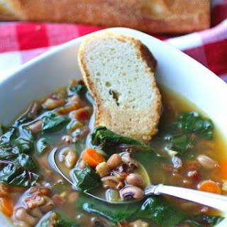 Black-Eyed Pea & Swiss Chard Soup with Pancetta