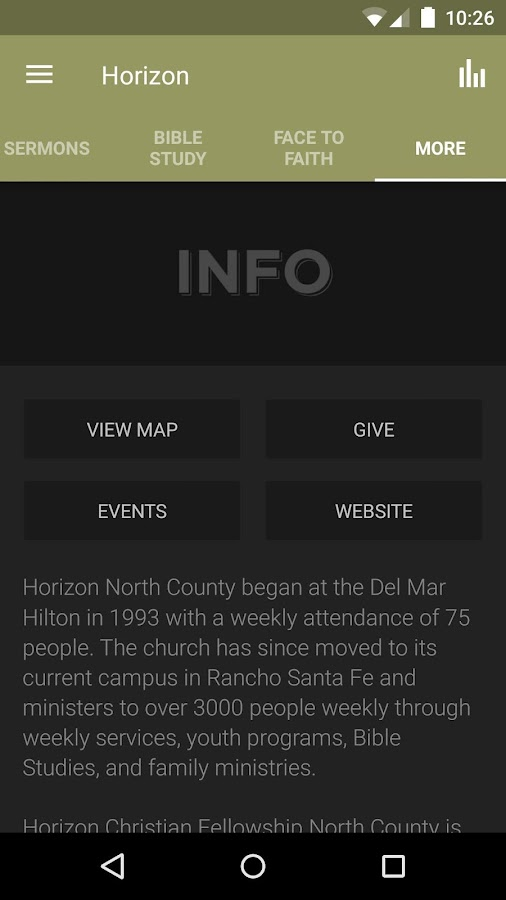 Horizon Christian Fellowship- screenshot