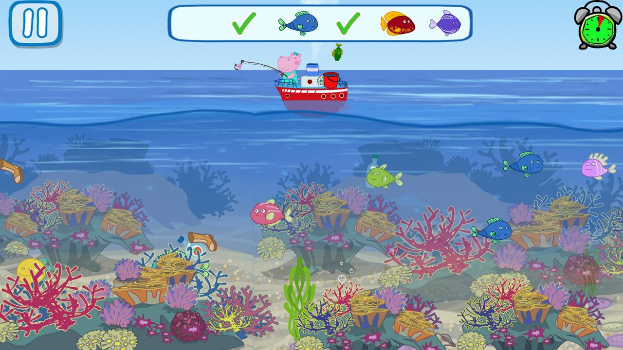 Funny Kids Fishing Games- screenshot