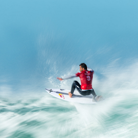 Skimming by Clive Wright - Sports & Fitness Surfing ( surf, surfer, bourez, jbay, ocean, corona, wave, sea, michel )