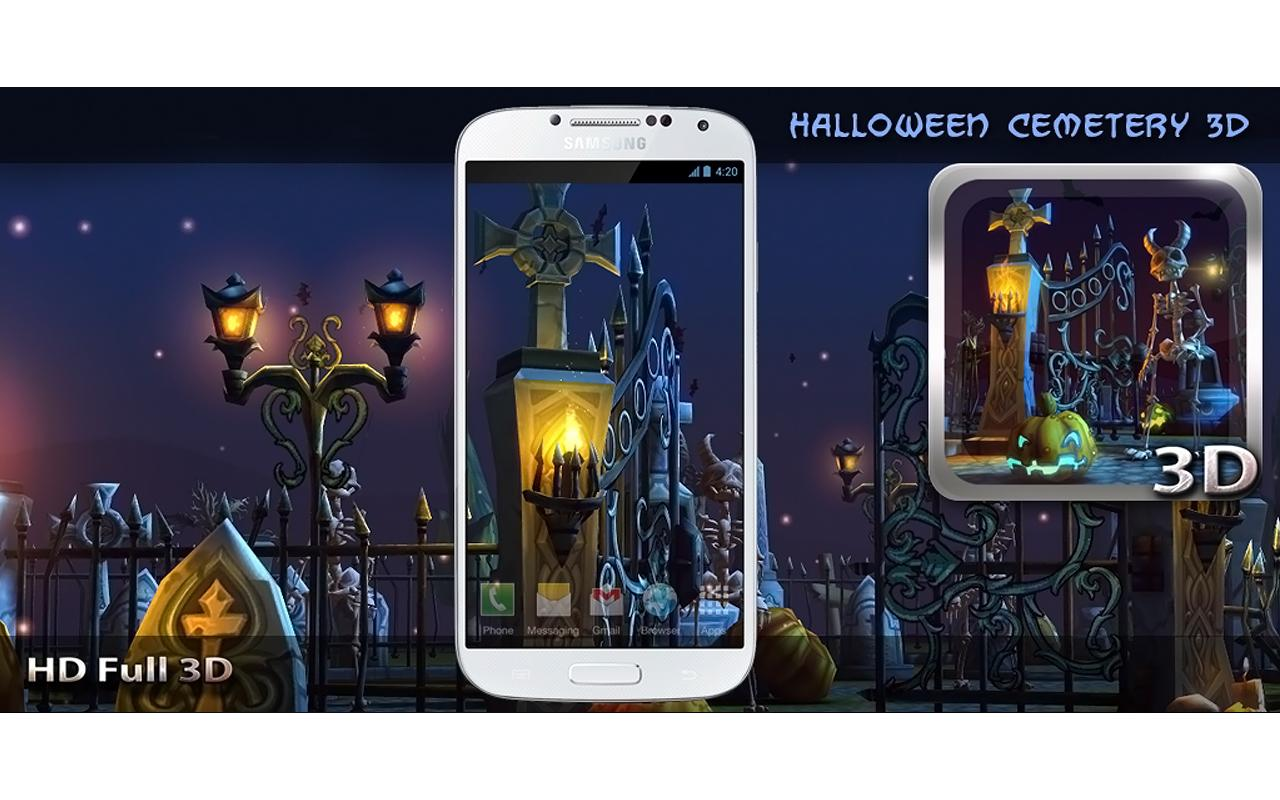 halloween cemetery 3d lwp android apps on google play. Black Bedroom Furniture Sets. Home Design Ideas