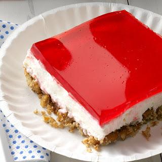 Pretzel Jell-O Dessert.