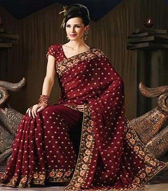 Designer saree showcases various saree patterns of indian celebrities