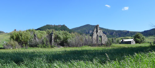 Photo: Now driving east on Mission Road - Remains of St. Peter's (a.k.a. Birdtail) Mission 1866-1918.